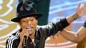 Pharrell Williams se produisant sur la scène des Oscars, le 2 mars 2014.