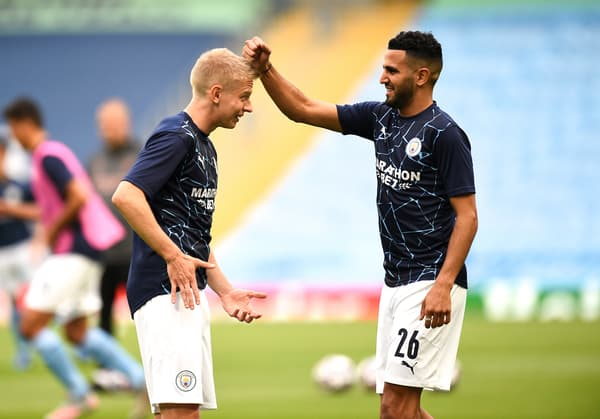 Zinchenko et Riyad Mahrez à Manchester City