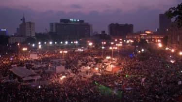 La place Tahrir du Caire, coeur la contestation anti-Morsi
