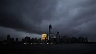 L'île de Manhattan, lors du passage de l'ouragan Sandy.