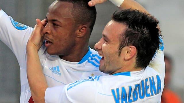 André Ayew et Mathieu Valbuena