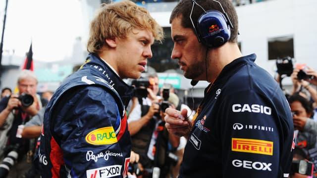Sebastian Vettel et Guillaume Rocquelin