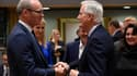 Michel Barnier, négociateur en chef de l'UE, avec le ministre irlandais des Affaires étrangères Simon Coveney