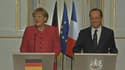 """Le lapsus d'Angela Merkel, qui a appelé par erreur François Hollande """"François Mitterrand"""", n'a pas vexé le chef de l'Etat, qui au contraire a affiché un large sourire."""