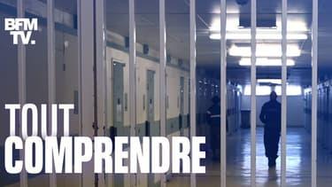 Un couloir de la prison de Poissy, dans les Yvelines (PHOTO D'ILLUSTRATION).