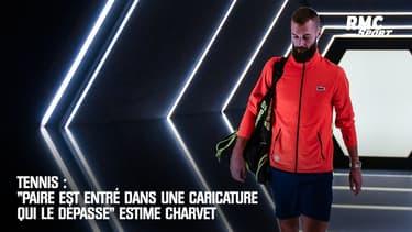 """Tennis : """"Paire est entré dans une caricature qui le dépasse"""" estime Charvet"""