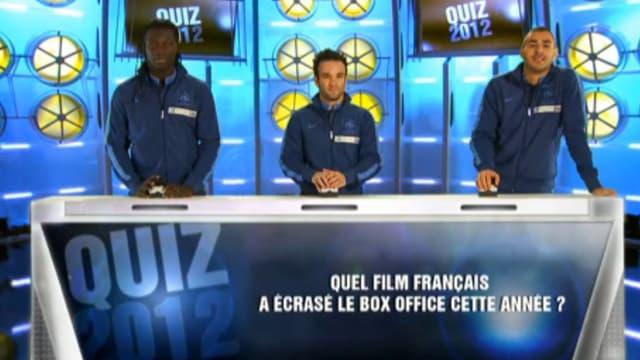 """Les Bleus lors de leur """"Quiz 2012"""" sur Téléfoot (TF1)."""