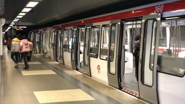 Le métro lyonnais.