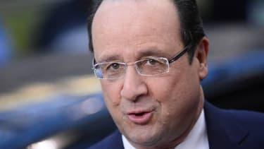 François Hollande a ironisé sur la dégradation de l'UE par S&P.