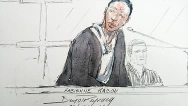 Fabienne Kabou, le 20 juin 2016 au premier jour de son procès devant la cour d'assises de Saint-Omer pour avoir assassiné son bébé en l'abandonnant à marée montante sur une plage de Berck-sur-Mer (Pas-de-Calais)