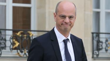 Jean-Michel Blanquer, le ministre de l'Éducation nationale, le 18 octobre 2017 à l'Élysée