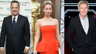Tom Hanks, Jennifer Lawrence et Harrison Ford figurent dans le classement des acteurs les plus appréciés en 2015