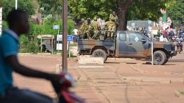 Une patrouille dans les rues de Ouagadougou
