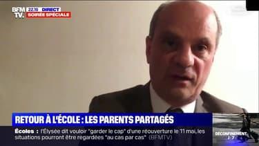 """Reprise de l'école: pour Jean-Michel Blanquer, """"la grève des enseignants n'est vraiment pas l'outil approprié dans cette discussion"""""""