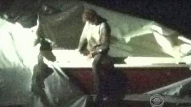 Le second suspect des attentants de Boston, avant son interpellation, vendredi 19 avril.