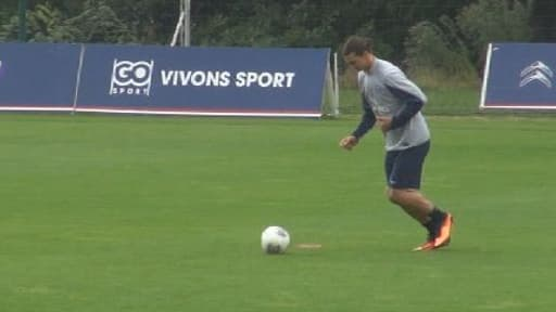 Zlatan Ibrahimovic à l'entraînement