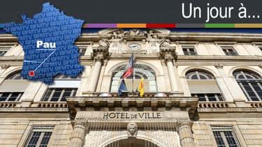 """A six jours du premier tour des municipales, BFMTV consacre un épisode de """"Un jour à..."""" à Pau."""