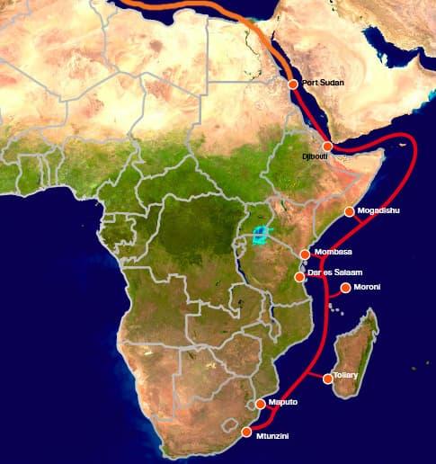 Le câble EASSy mesure près de 10 000 km.