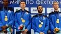 Enzo Lefort, Vincent Simon, Erwan Le Pechoux et Julien Mertine