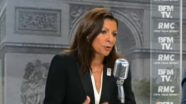 Anne Hidalgo jeudi matin sur BFMTV et RMC.