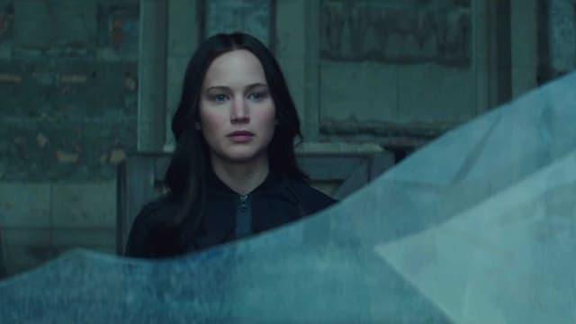 """Jennifer Lawrence dans le rôle de Katniss, héroïne de la saga """"Hunger Games"""""""