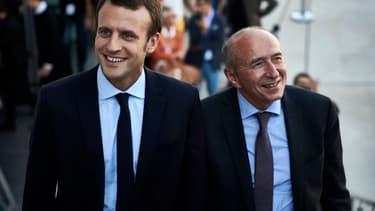Emmanuel Macron et Gérard Collomb en septembre 2016.