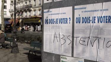 L'abstention pourrait atteindre de nouveaux records en 2014. La photo a été prise en 2010 lors des régionales à Paris