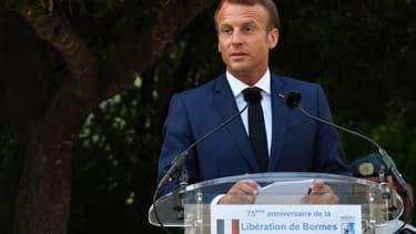 Emmanuel Macron à Bormes-les-Mimosas le 17 août dernier.