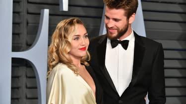 Miley Cyrus et Liam Hemsworth à Beverly Hills en mars 2018