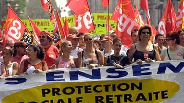 En 2003, des manifestations contre la réforme Fillon sur les retraites