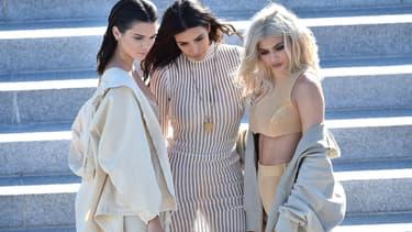 Kendall Jenner, Kim Kardashian et Kylie Jenner en septembre 2016