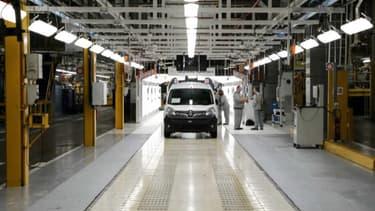 Le constructeur automobile Renault ce mercredi ses activités de production en France.