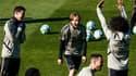 Luka Modric et Marcelo hilares à l'entraînement du Real