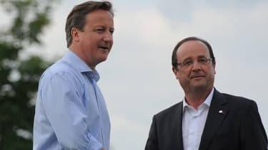 David Cameron et François Hollande, lors de la dernière réunion du G8 en juin dernier.