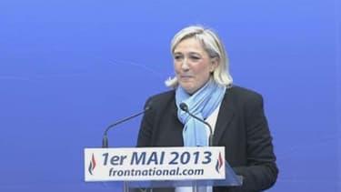 Marine Le Pen lors de son discours du 1er-Mai.