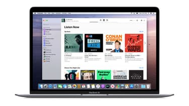 L'application Podcasts pour macOS Catalina