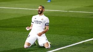 Karim Benzema après son but lors du Clasico