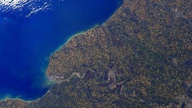 La Normandie vue de l'espace, immortalisée par l'astronaute français Thomas Pesquet.