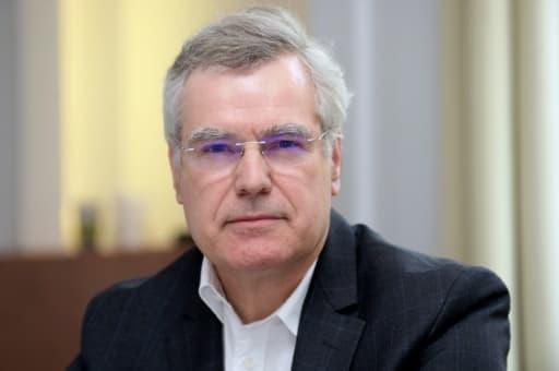 Le président du groupe pharmaceutique Olivier Laureau, le 11 mars 2020 à Paris