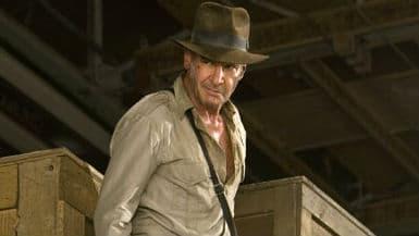 """Harrison Ford dans """"Indiana Jones et le royaume du crâne de cristal"""" en 2008"""