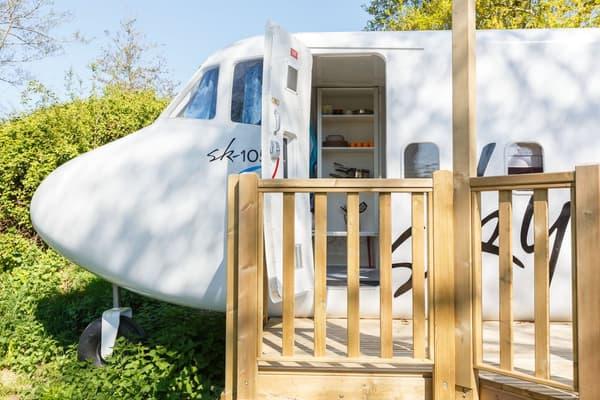 Il est possible de louer cet avion pour moins de 90 euros la nuit.