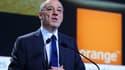 Stéphane Richard, le patron d'Orange, s'est félicité de la progression du chiffre d'affaires en France.