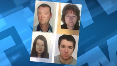 Pascal, Brigitte, Sébastien et Charlotte Troadec sont portés disparus depuis le 16 février.