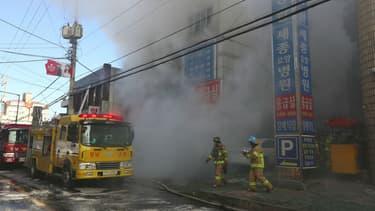 Un incendie s'est déclaré à Miryang (Corée du Sud) le 26 janvier 2018, faisant au moins 41 morts