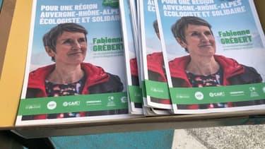 Fabienne Grébert, candidate écologiste à la présidence de la région Aura