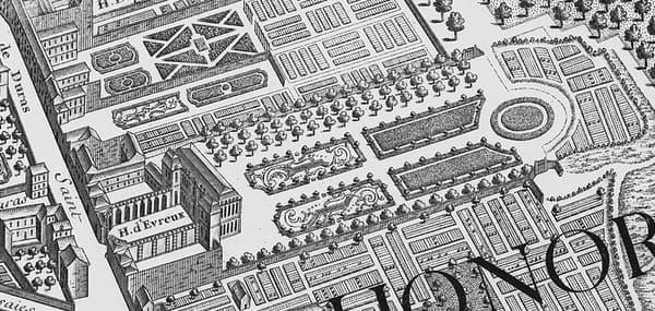 L'hôtel d'Évreux vers 1737.
