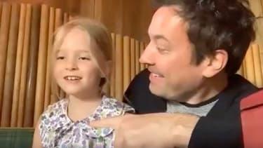 Jimmy Fallon et sa fille Winnie