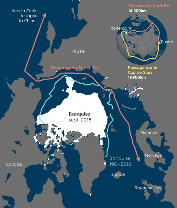 infographie route maritime Arctique