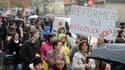 Une manifestation contre la réforme des rythmes scolaires à Bordeaux, en novembre 2013.