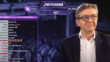 Jean-Luc Mélenchon sur Twitch